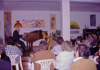 uno dei concerti di Mario Feninger