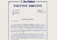 Endorsed by Mr. Hubbard 1982