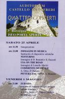 programma concerti all'Auditorium  Castello Oldofredi