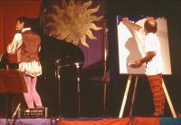 pittura e musica in estemporanea