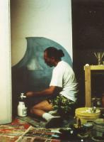 Pier Paderni working at set