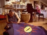 Pier Paderni - preparing the banner
