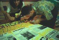 Silvia Franchi & team - working on signs