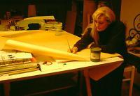 Stella working at design