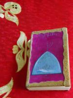 coperta rilegata in pelle  e dipinta a mano da Pier Paderni