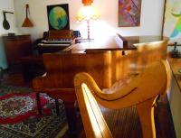 l'Hammond A 100 accanto al pianoforte, sta proprio bene