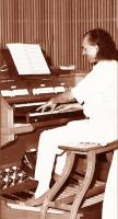 At pipe organ of  Bellusco Church (MI) - April 1992