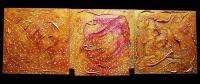 """Pier Paderni - """"Tre formelle""""  (120 x 40 cm)"""