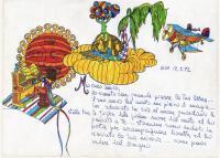 """Pier Paderni - °(India 1972) """"Magic of Goa"""", disegno di S & B"""