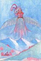 "Pier Paderni - *(Kabul 1973) ""Over the wings"" 38x24cm"