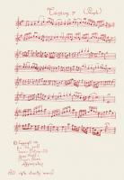 "Pier Paderni - *(Kabul 1973) ""Musical scores"" 38x24cm"