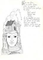 """Pier Paderni - *(Colle Isarco 1975) """"Casa in testa"""" 25x18cm, Andromeda Files"""
