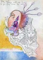 """Pier Paderni - *(Borno 1972) """"Sul mare blu"""" 25x18cm, Andromeda Files"""
