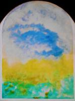 """Pier Paderni - """"Finestra"""" (80x36 cm), coll. privata"""