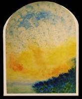 """Pier Paderni - """"Valinor""""  (80x36 cm), coll. privata"""
